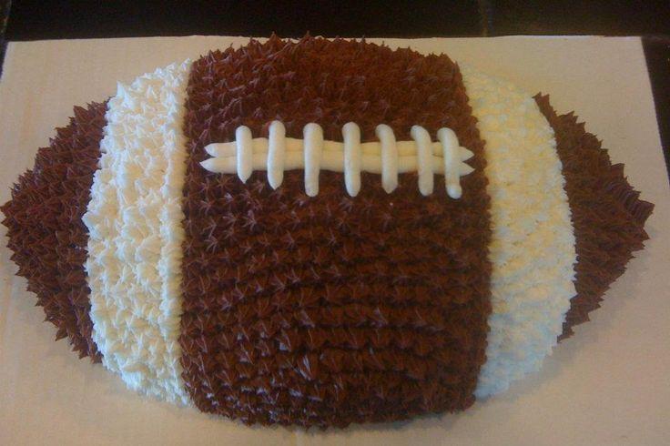 football shaped cake