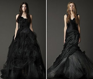 Two Vera Wang Black Wedding Dresses Clothes Pinterest