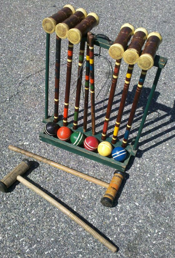 The Yard Sale Secrets team got this croquet set absolutely free. How? We swallowed our pride and picked it up out of someone's garbage.