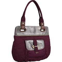 Purple fossil handbag