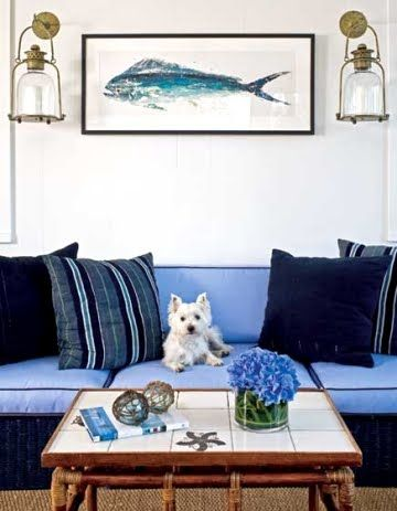 I love everything about this room... and the model proves that my dog would go with the decor :)