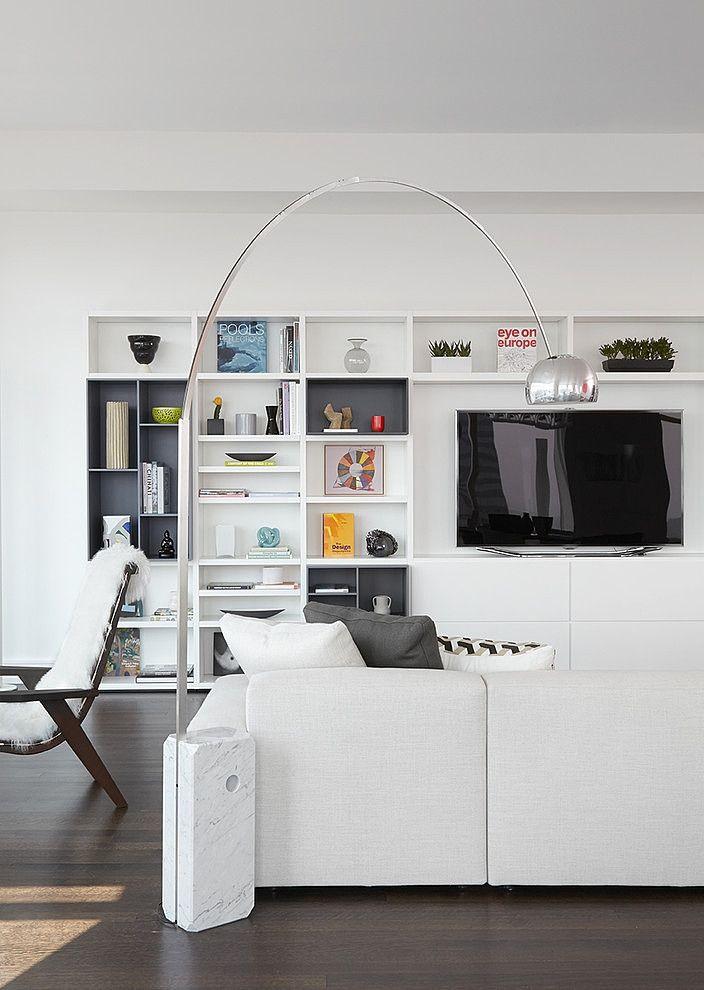 living room with an arc floor lamp dream home pinterest. Black Bedroom Furniture Sets. Home Design Ideas