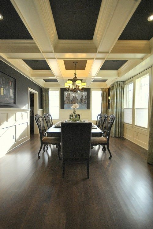 dining room paint ceiling between beams design and decorate