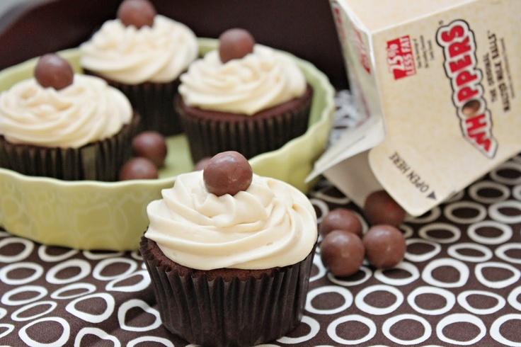 Chocolate Malt Cupcakes | Chocolate Cupcakes | Pinterest
