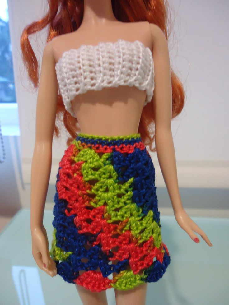 Barbie Shell-Stitched Skirt and Cropped Top (Free Crochet ...