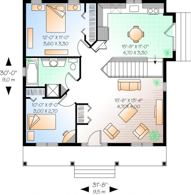 Pin By Elizabeth Jackson On Houses Under 1200 Sq Ft