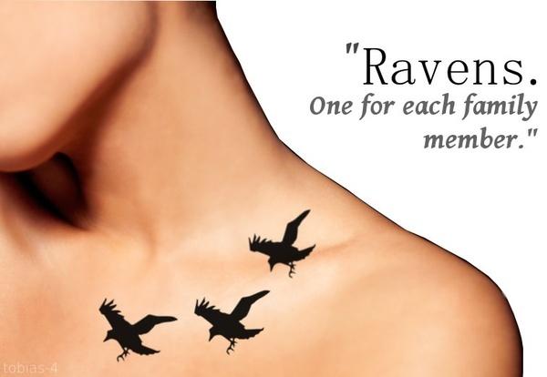 Ravens...Divergent/Tris Prior tattoo