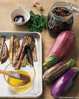 See the Grilled Eggplant in Pomegranate Dressing in our gallery