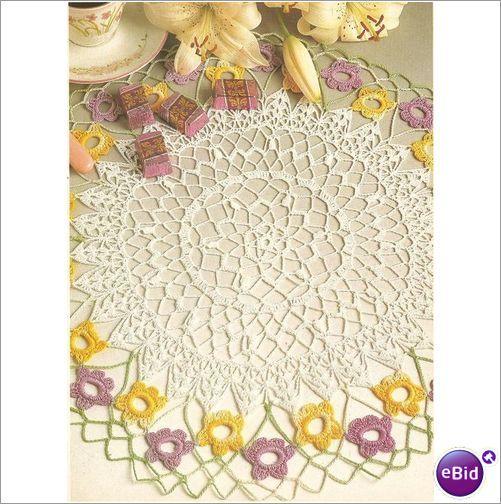 Crochet Patterns Nz : Crochet Doily Pattern Quelques Fleurs on eBid New Zealand