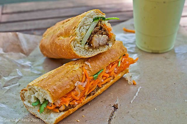 Lemongrass Chicken Banh Mi | Banh Mi Madness | Pinterest