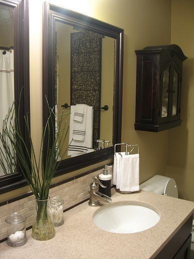 Brown Green White Bathroom Home Pinterest