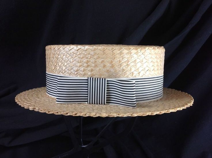 ... Capadors Boater Straw Hat 25