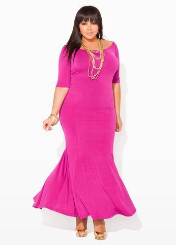 Ashley stewart mermaid maxi dress curvy girl style Ashley stewart wedding dresses