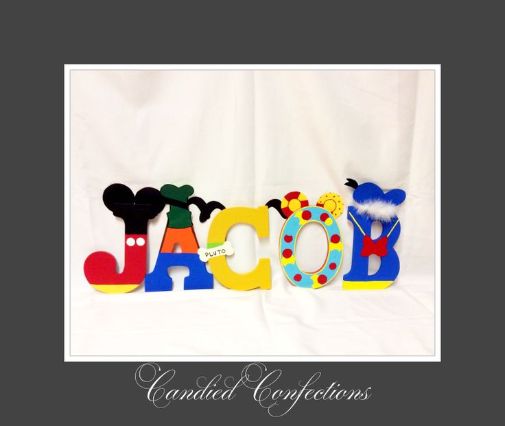 Mickey Mouse clubhouse letters | Candied Confections wood letters | P ... | 736 x 621 jpeg 35kB