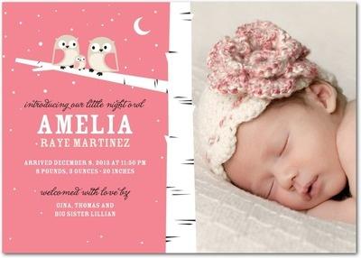 newborn baby announcement sample