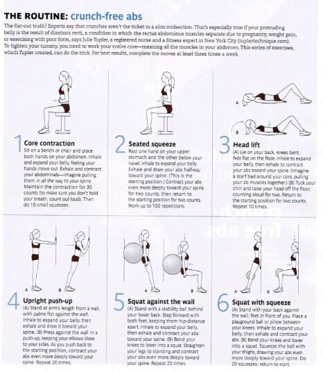Exercises for diastasis recti | Fitness/weightloss | Pinterest