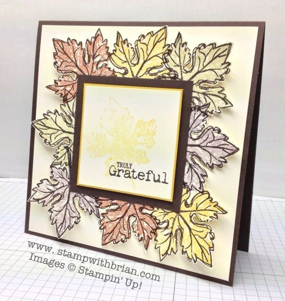 Gently falling truly grateful stampin up brian king