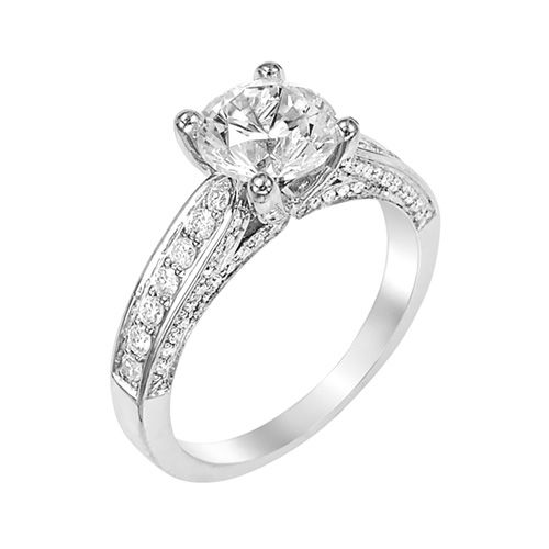 Fred Meyer Jewelers | 2 ct. tw. Diamond Engagement Ring (princess cut ...