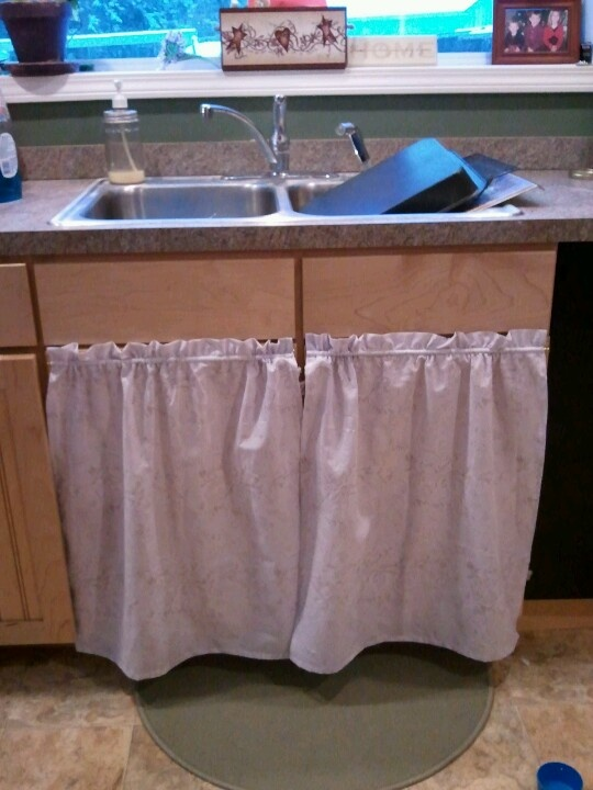 Curtains Under The Kitchen Sink Projects I Have Done Pinterest