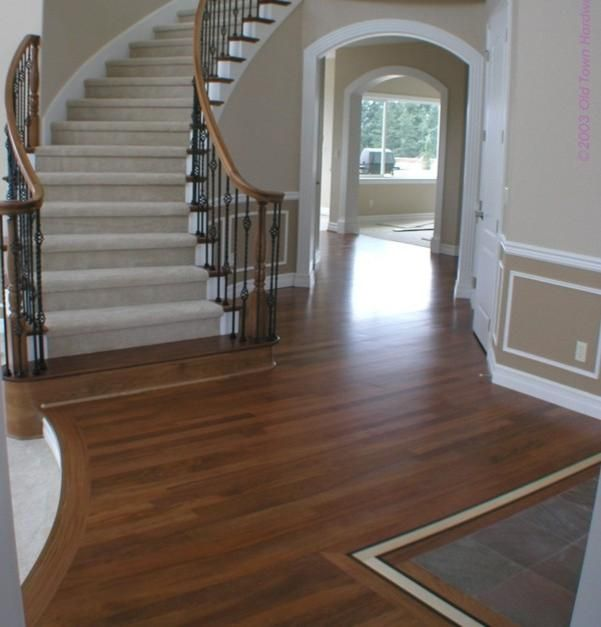 Wood floor tile stairs for the home pinterest - Stairs with tile and wood ...
