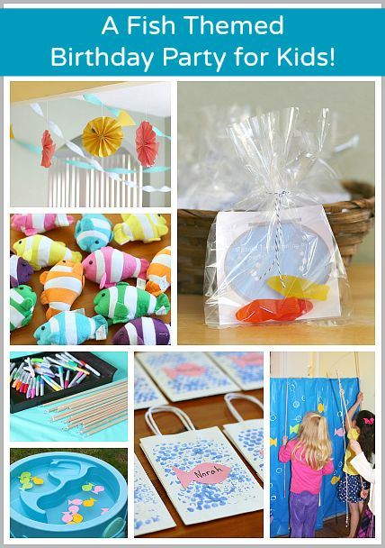 Lots of fun fish crafts for an ocean unit too! (A Fish Themed Birthday Party (with FREE printable party favor tag)~ Buggy and Buddy)