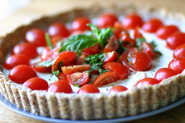 Goat cheese tart with basil and tomato | Tastes Like Summer | Pintere ...