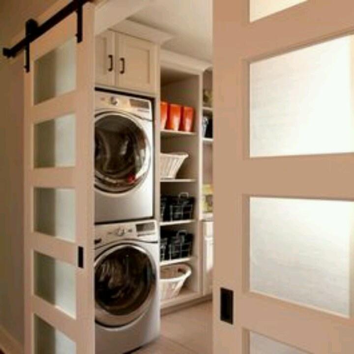 Barn doors for laundry room lavanderie pinterest for Barn door ideas for laundry room