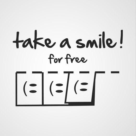Take a smile! muurtekst slaapkamer  Flockers  Pinterest