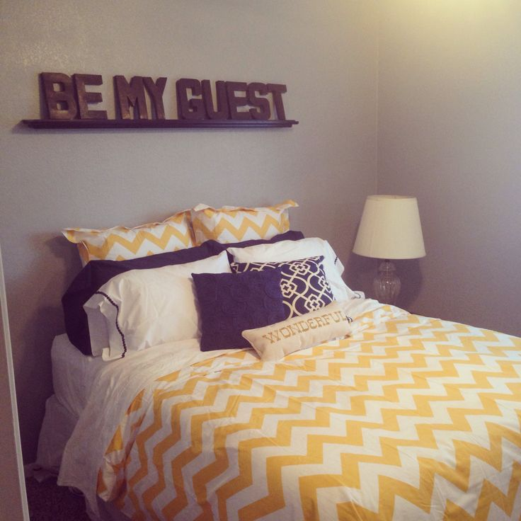 Pin by julie kwack on chevron pinterest - Navy blue and yellow bedding ...
