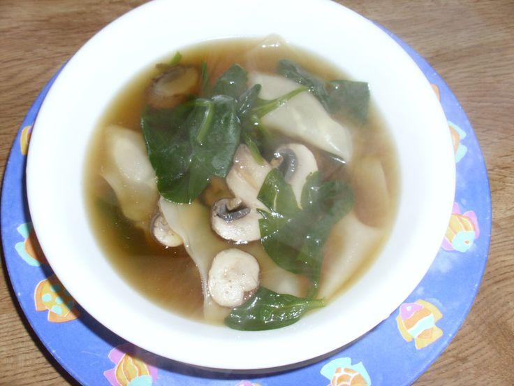 spinach wonton soup
