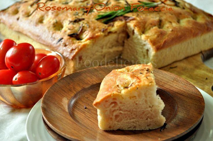 Rosemary-Onion Focaccia | Food-Grains-Focaccia | Pinterest