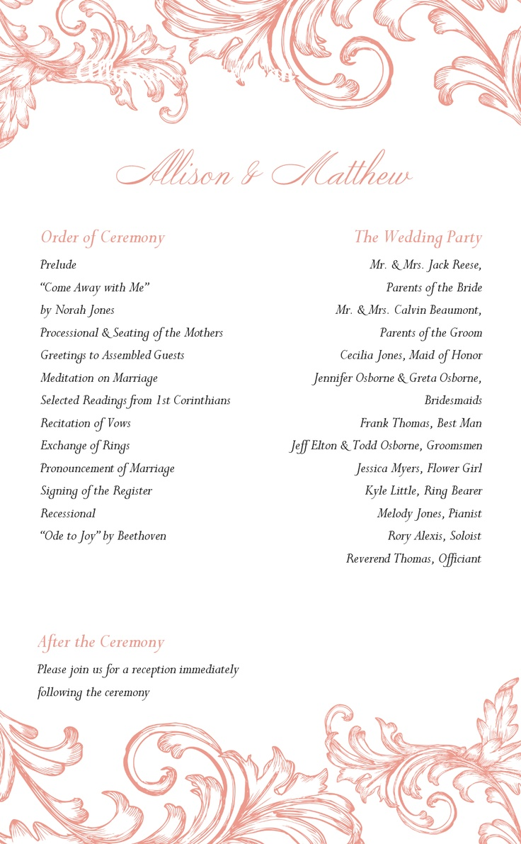 Wedding Program - Printable Templates | Wedding | Pinterest