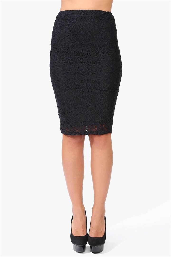 lace pencil skirt in black wardrobe wishes
