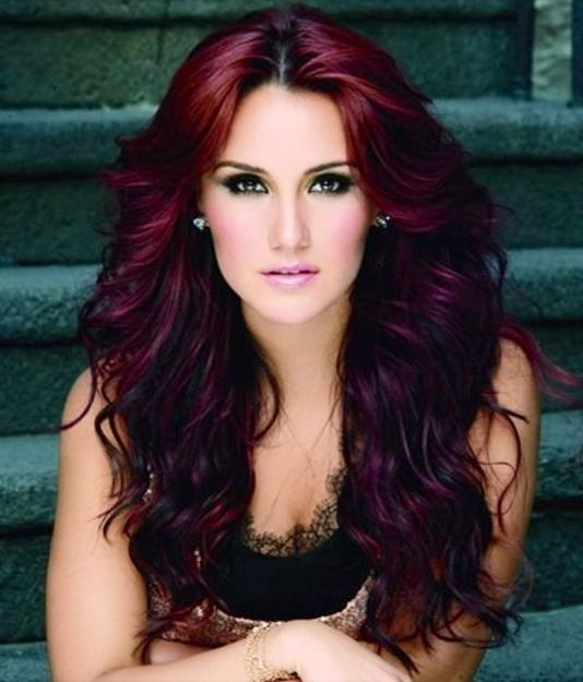 Black Cherry Hair With Red Underneath