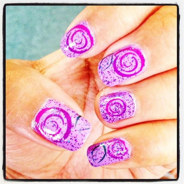 My own #nail art - tattooed nails | My Own Nail Art | Pinterest