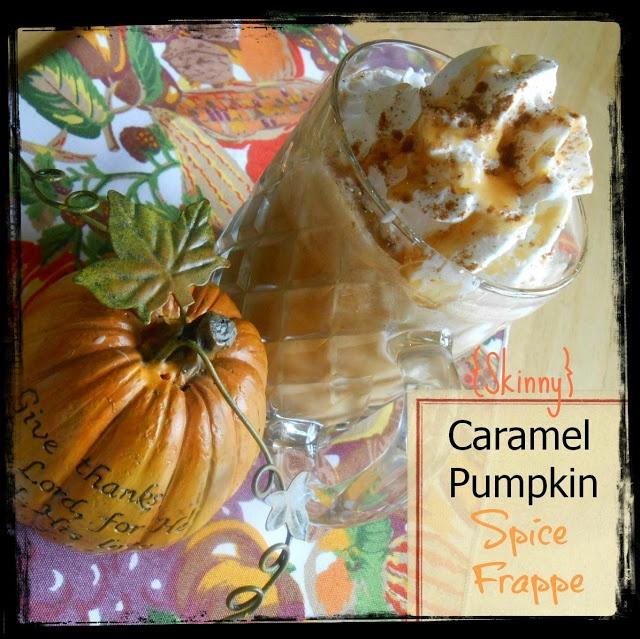 Skinny} Caramel Pumpkin Spice Frappe (& Crockpot Pumpkin Spice Latte)