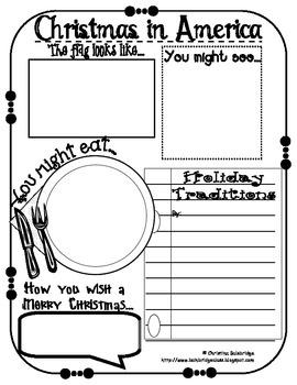 Christmas Around the World Scrapbook Freebie!