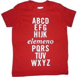 Not so sure we ought to encourage this but it's so funny! Red Alphabet Tee by Pluto