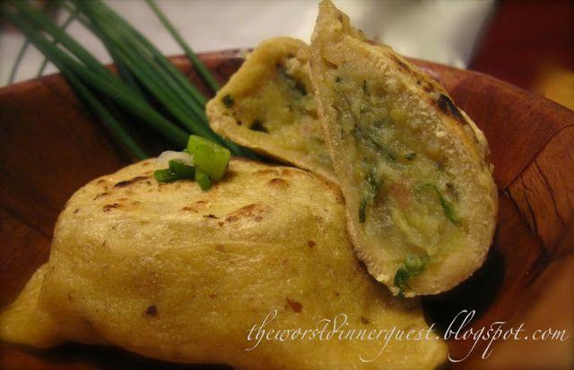 Sweet Potato Pierogies with White Wine, Garlic and Fresh Chives