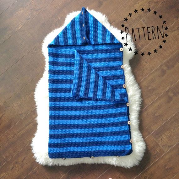 Crochet Pattern Baby Sleep Sack : Crochet Baby Sleep Sack Pattern - Baby Sleeping Bag