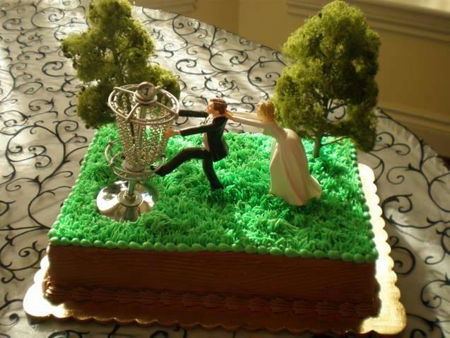 Disc Golf Wedding Cake Topper