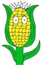 """God Made Corn Sunday School Lesson (Genesis 1:29) Comes with matching coloring page, craft, snack, printable lesson, corn mask craft, name tags, prayer request sheet, bookmarks, doorknob hangers, award certificate, corn on the cob treat, clipart, God made corn song to the tune of """"Jesus loves me"""" and more."""