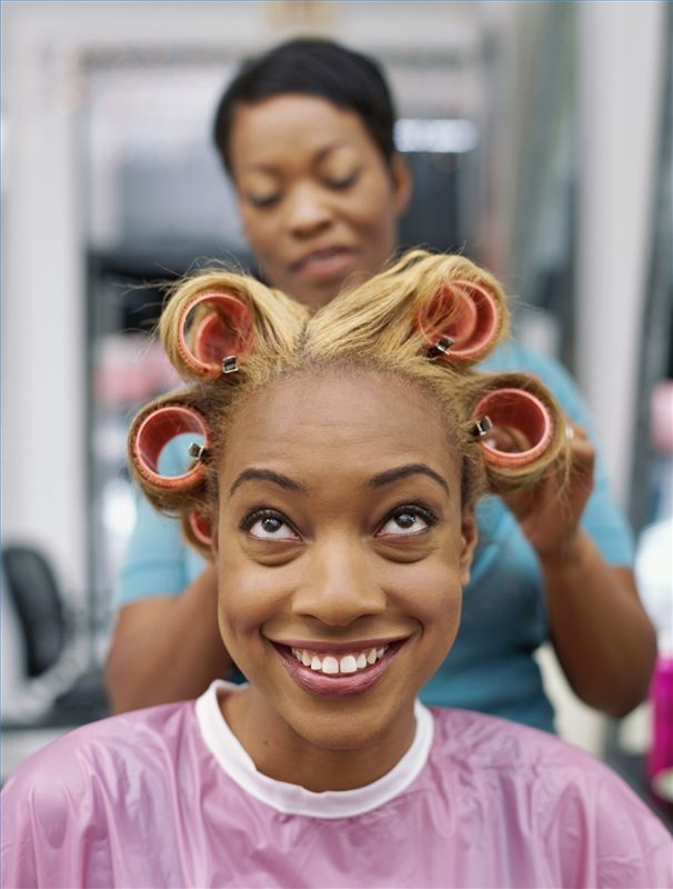 how to sew straight : How to Set Rollers With African American Hair