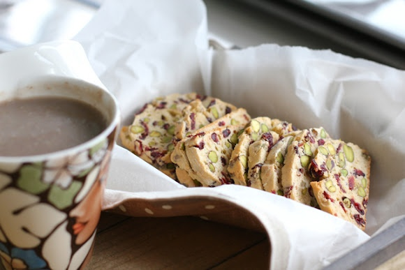 Green Cilantro: Cranberry and Pistachio Biscotti