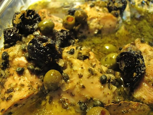 Chicken Marbella...Lynda made this for us at the ranch July 2013...Yum ...