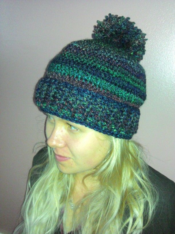 Free Crochet Pattern Bobble Hat : Crocheted bobble hat Crochet. Pinterest