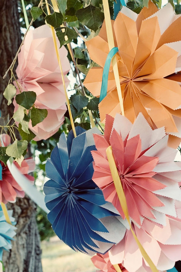decoracao festa verao:Paper Flower Wedding