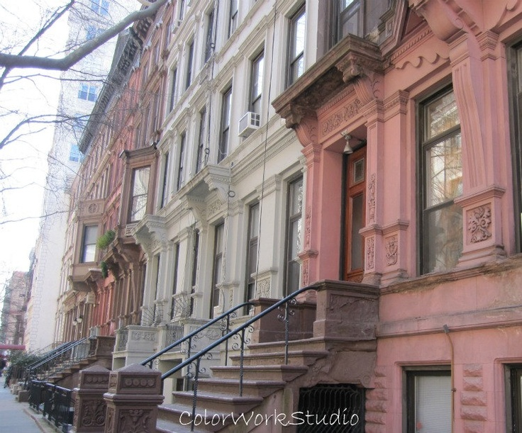 Nyc photo brownstones upper west side new york city for Upper west side apartments nyc