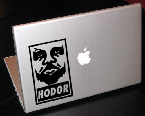 OH. MY. GOD. Hodor Obey Game of Thrones Inspired Decal by ...