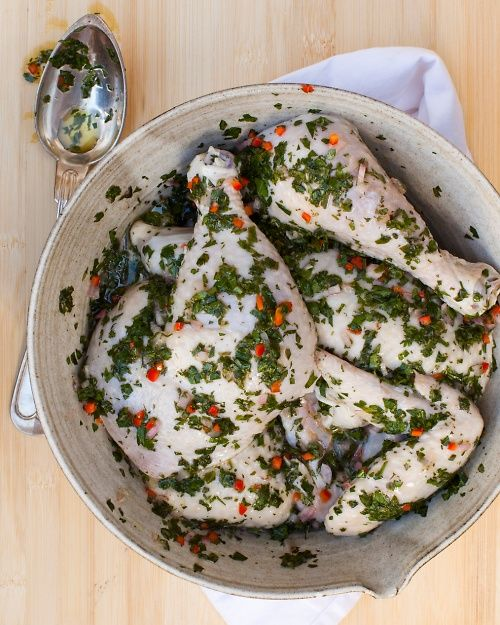 All-Purpose Herb Marinade - with fresh mint leaves and red jalapeño ...